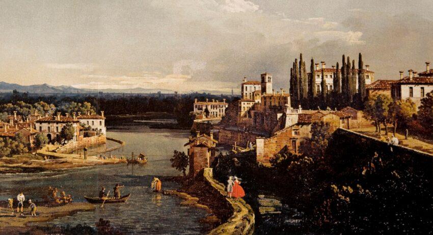 Bernardo Belotto, Panorama abduano di Vaprio verso sud, Metropolitan Museum di New York